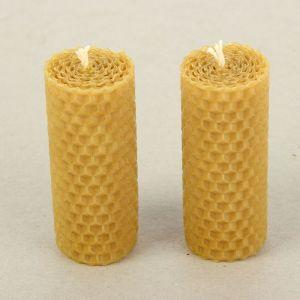 """Набор свечей из вощины медовая с добавлением эфирного масла """"Эвкалипт"""" 8 см, 2 шт 1411263"""