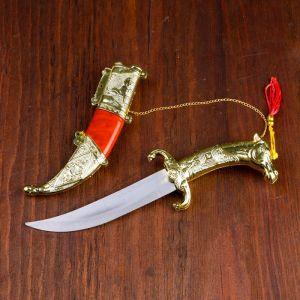 Сув. изделие нож, ножны серебро с красным, клинок 22 см 4387955