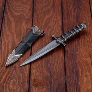 Сувенирный кинжал, 25 см, чёрная витая рукоять 2880664