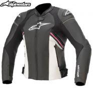 Куртка женская Alpinestars Stella GP Plus V3 Airflow, Черно-бело-розовая
