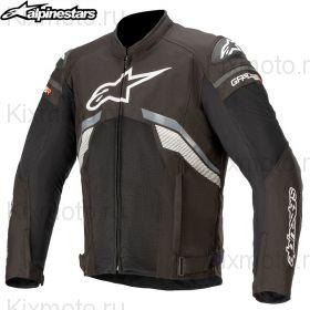 Мотокуртка Alpinestars T-GP Plus V3 Air, Черно-бело-серая