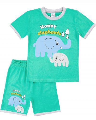 """Костюм для мальчика Bonito kids """"Happy elephants"""" ментоловый"""