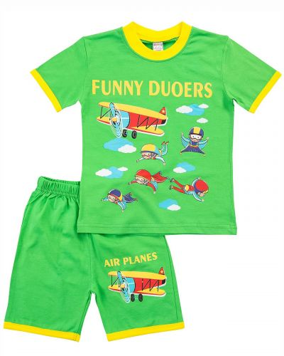 "Костюм для мальчика Bonito kids ""Funny Duoers"" зеленый"