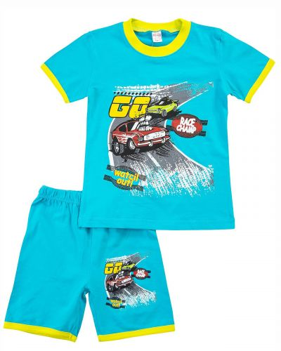 "Костюм для мальчика Bonito kids ""Go Race Champ"" светло-бирюзовый"