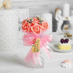 Букет «Я люблю тебя», 7 цветов, коралл