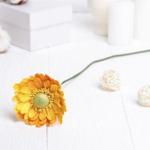 """Искусственный цветок """"Гербера"""" жёлтый 45 см 3257414"""