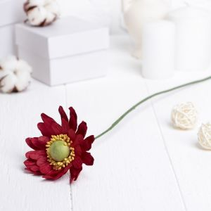 """Искусственный цветок """"Гербера"""" красный 45 см 3257415"""
