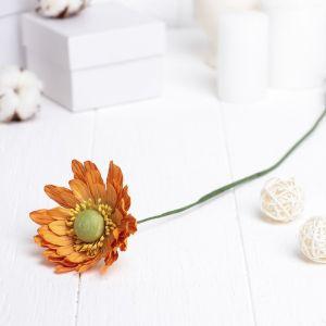 """Искусственный цветок """"Гербера"""" оранжевый 45 см 3257416"""