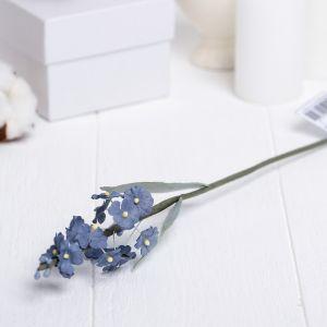"""Искусственный цветок """"Незабудка"""" синяя 34 см 3257340"""
