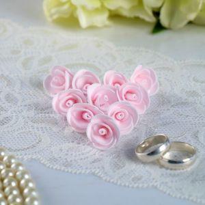 Набор цветов для декора из фоамирана, D=2 см, 10 шт, розовый 2976270