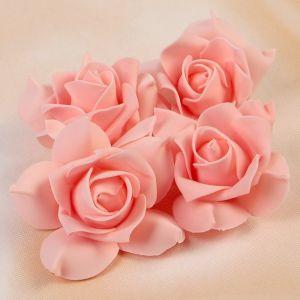 Набор цветов для декора из фоамирана, D=7,5 см, 4 шт, персиковый 2976285