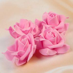 Набор цветов для декора из фоамирана, D=7,5 см, 4 шт, розовый 2976286