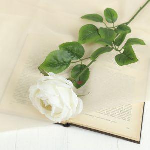 """Цветок искусственный """"Роза Heritage"""" 9*67 см, белый   2248790"""