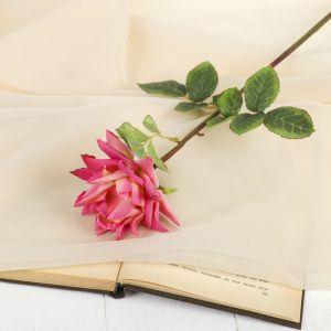 """Цветок искусственный """"Роза Стар"""" 9*56 см, розовая 2248834"""