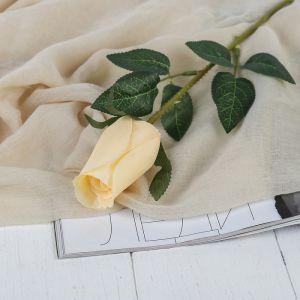 """Цветы искусственные """"Роза Карина"""" 4*46 см, кремовый   3794235"""