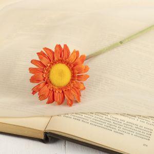 """Цветок искусственный """"Гербера Алмак"""" 8*44 см, оранжевый   2248782"""