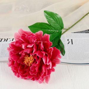 """Цветок искусственный """"Бархатный пион"""" малиновый"""