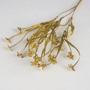 """Цветы искусственные блеск """"Цветочки"""" 2,5*38 см, золото   3543967"""