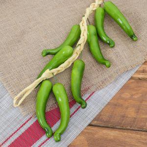 Муляж связка 45 см 12 перцев зеленый   3601727