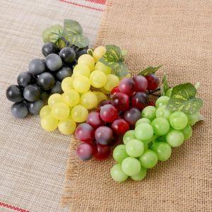 Искусственный виноград, 24 ягоды, матовый, микс