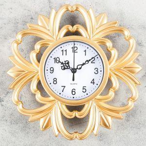 """Часы настенные, серия: Интерьер, """"Ангулем"""", 25х25 см, микс   4457339"""