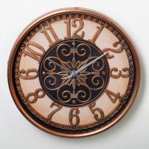 """Часы настенные, серия: Интерьер, """"Анеля"""", d=25 см, цвет бронза 3620790"""