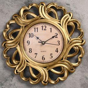 """Часы настенные, серия: Интерьер, """"Вереница"""", бронзовые, d=25 см 1586980"""