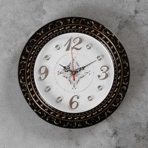 """Часы настенные, серия: Интерьер, """"Грата"""", бронзовые, d=29 см 2581939"""