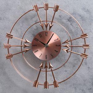 """Часы настенные, серия: Интерьер, """"Двенадцать стрел"""", медные, d=29 см 2723547"""