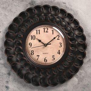 """Часы настенные, серия: Интерьер, """"Дорадо"""", чёрные, d=30 см 2307020"""