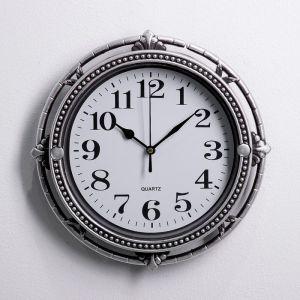 """Часы настенные, серия: Интерьер, """"Кору"""", хромированные, 27х27 см 3568011"""