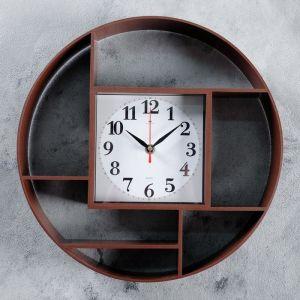 """Часы настенные, серия: Интерьер, """"Маганса"""", венге, 35 см   4551231"""