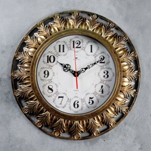 """Часы настенные, серия: Интерьер, """"Мушота"""", золото, 51 см   4551259"""