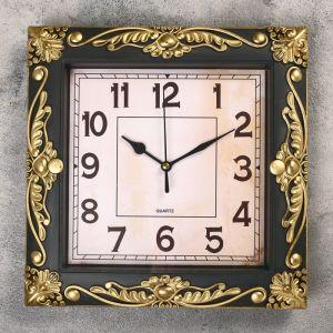 """Часы настенные, серия: Интерьер, """"Мюзле"""", бронзовые, 26х26 см микс 2998057"""