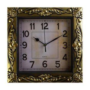 """Часы настенные, серия: Интерьер, """"Мюзле"""", золотые, 26х26 см  4233589"""