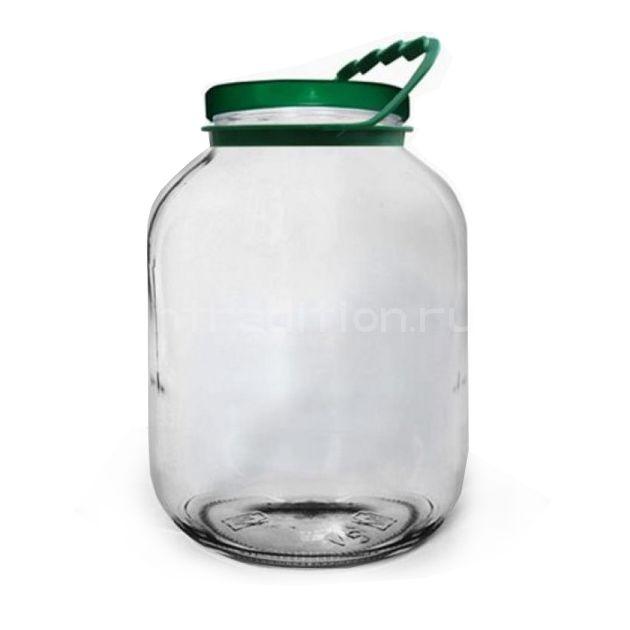 Стеклянная банка 5 литров (крышка винт в комплекте)