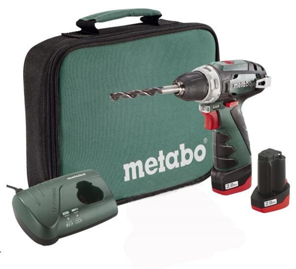 Дрель-шуруповерт Metabo PowerMaxx BS 2.0Ач х2 сумка (600079550)
