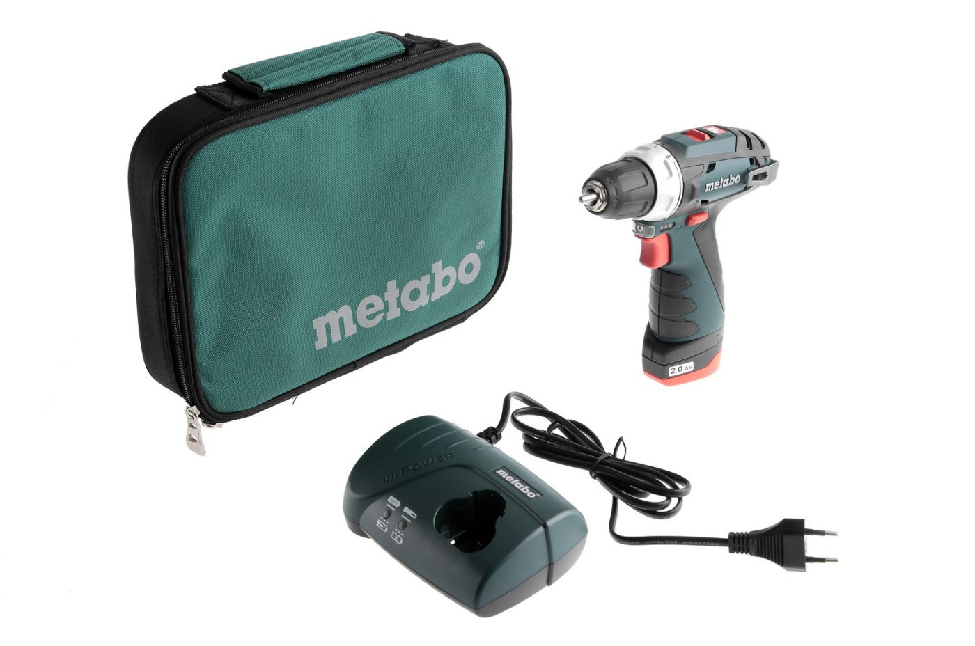 Дрель-шуруповерт Metabo PowerMaxx BS 2.0Ah x1 Bag (600079500)