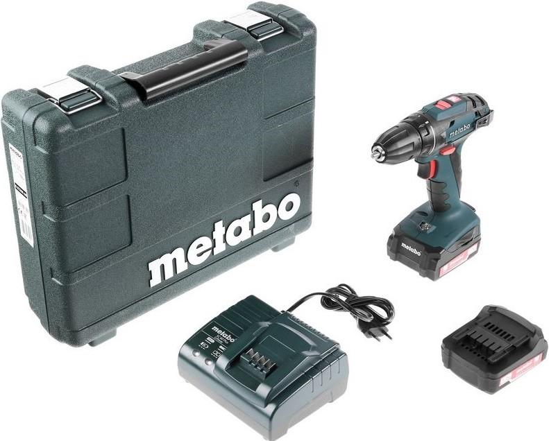 Дрель-шуруповерт Metabo BS 14.4 10мм 1.3Ah x2 Case (602206500)