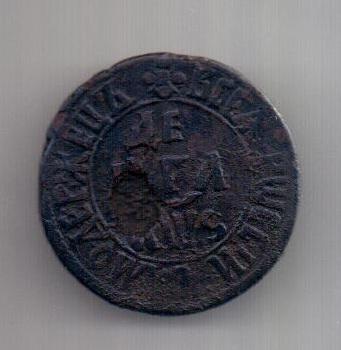 Деньга 1706 г. Петр I