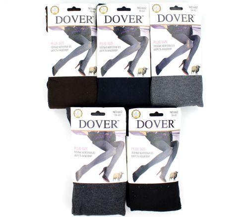 Женские колготки тёплые, шерсть-кашемир 56-62 Dover DV662