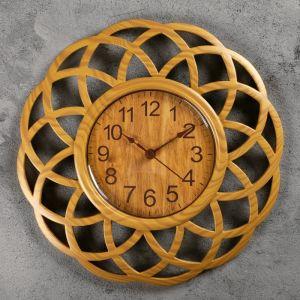 """Часы настенные, серия: Интерьер, """"Секвойя"""" 25х25 см, плавный ход 3620740"""