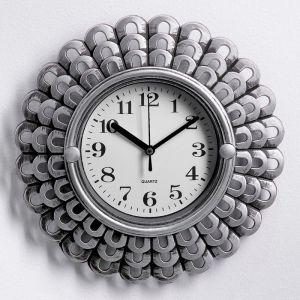 """Часы настенные, серия: Интерьер, """"Солнышко"""", хромированные, 26х26 см 3568012"""