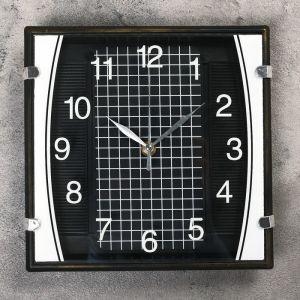 """Часы настенные, серия: Классика, """"Матао"""", чёрные, 23х23 см 1195059"""