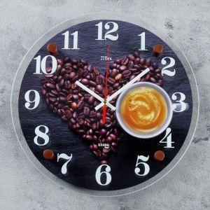 """Часы настенные, серия: Кухня, """"Любимый кофе"""", 30 см 4551229"""