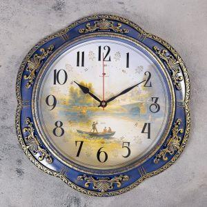"""Часы настенные, серия: Природа, """"Диабо"""",синие  35.5 см   4551493"""