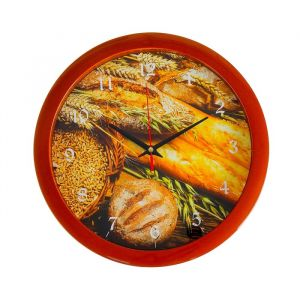 """Часы настенные, серия: Кухня, """"Хлеб"""", 28х28 см 2436867"""