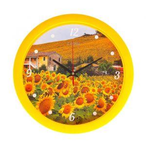 """Часы настенные, серия: Цветы, """"Подсолнечник"""", 28х28 см 2436433"""