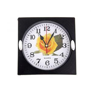 """Часы настенные, серия: Цветы, """"Роза желтая"""" 15х15 см 155460"""