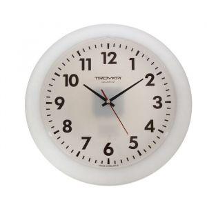 """Часы настенные круглые """"Классика в белом"""", d=30,5 см, выпуклое стекло, белые"""